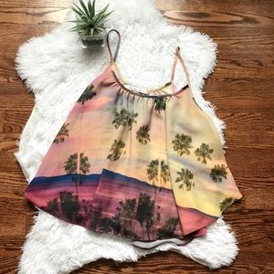 Revolve Lovers + Friends tropical trapeze tank top